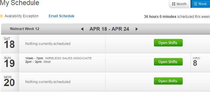 walmartone schedule
