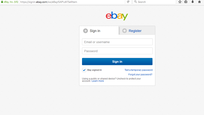 my ebay login