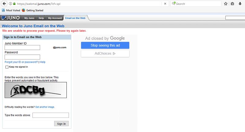 Juno Email Webmail Login