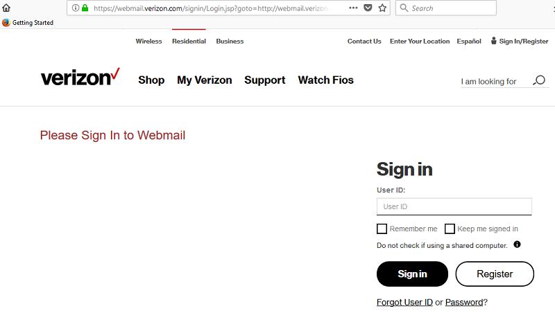 Verizon Email Login - Verizon Webmail